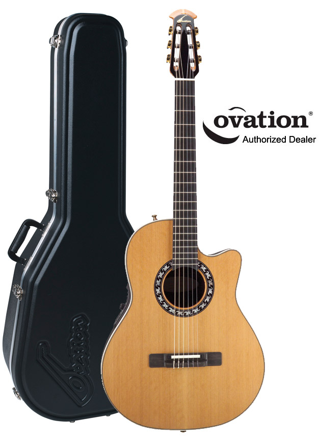 ovation ax series pro nylon 1773ax classical acoustic electric guitar with case 645813054729 ebay. Black Bedroom Furniture Sets. Home Design Ideas