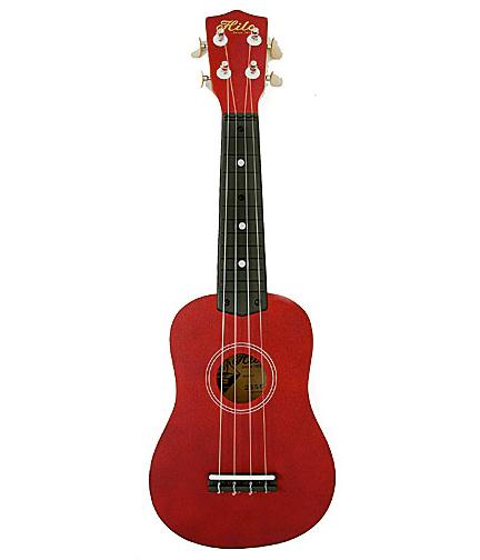 hilo standard soprano ukulele uke transparent red 2650 ebay. Black Bedroom Furniture Sets. Home Design Ideas