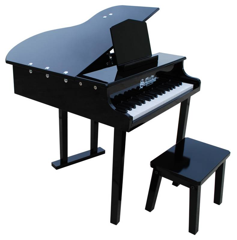 Schoenhut 37-Key Black Children'S/Kid'S Concert Baby Grand Piano W