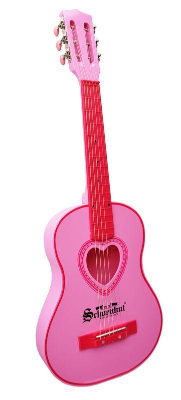 schoenhut 605p 6 steel string childrens kids acoustic guitar pink heart 823951038928 ebay. Black Bedroom Furniture Sets. Home Design Ideas