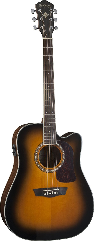 washburn hd10scetb heritage cutaway acoustic electric guitar tobacco sunburst ebay. Black Bedroom Furniture Sets. Home Design Ideas