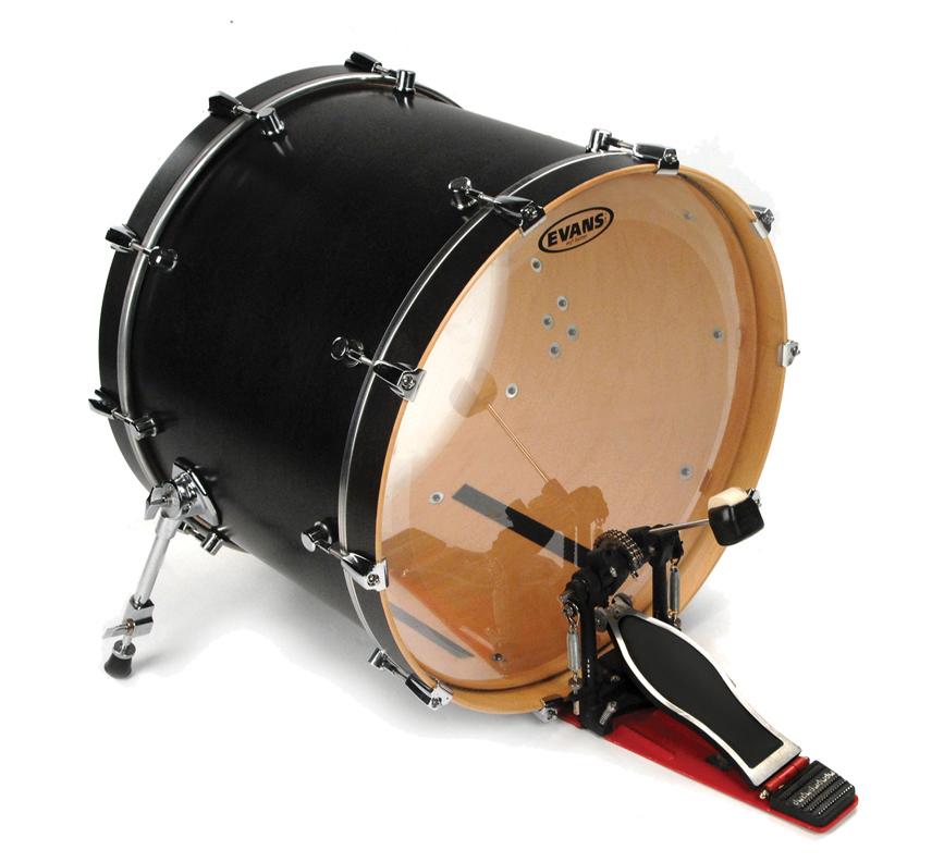 evans 22 eq2 batter clear bass drum head ebay. Black Bedroom Furniture Sets. Home Design Ideas