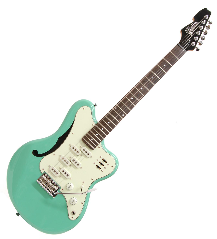 italia imola 6 electric guitar with wilkinson tremolo surf green ebay. Black Bedroom Furniture Sets. Home Design Ideas