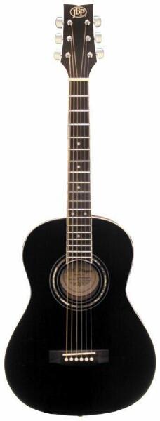 jb player jb36 36 black acoustic guitar with decorative soundhole. Black Bedroom Furniture Sets. Home Design Ideas