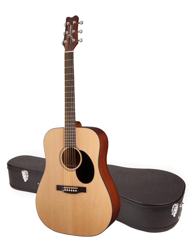 jasmine by takamine jd39 nat dreadnought acoustic guitar with case ebay. Black Bedroom Furniture Sets. Home Design Ideas