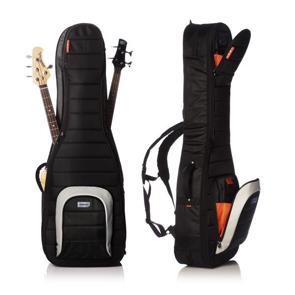 mono case m80 dual double bass guitar case jet black ebay. Black Bedroom Furniture Sets. Home Design Ideas