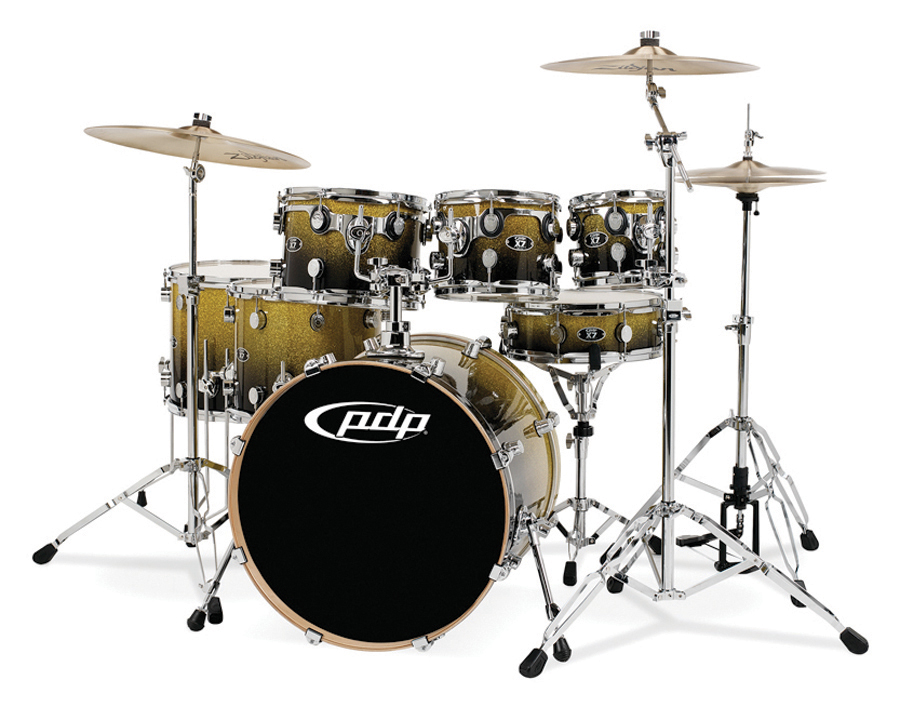 PDP Pacific Drums x7 Maple Drum Shell Pack Set Gold to Black Fade 647139206776 : eBay
