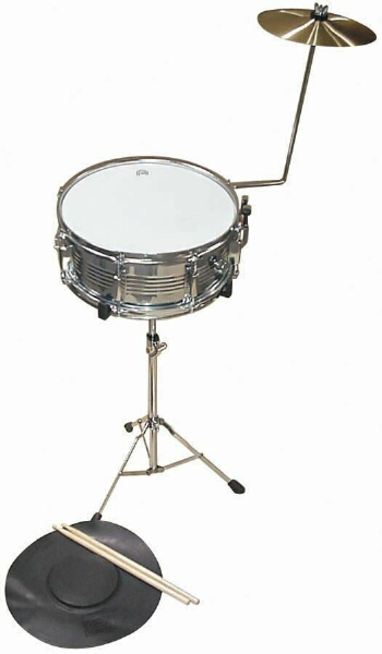 percussion plus psk100 snare drum kit set with cymbal stand practice pad ebay. Black Bedroom Furniture Sets. Home Design Ideas