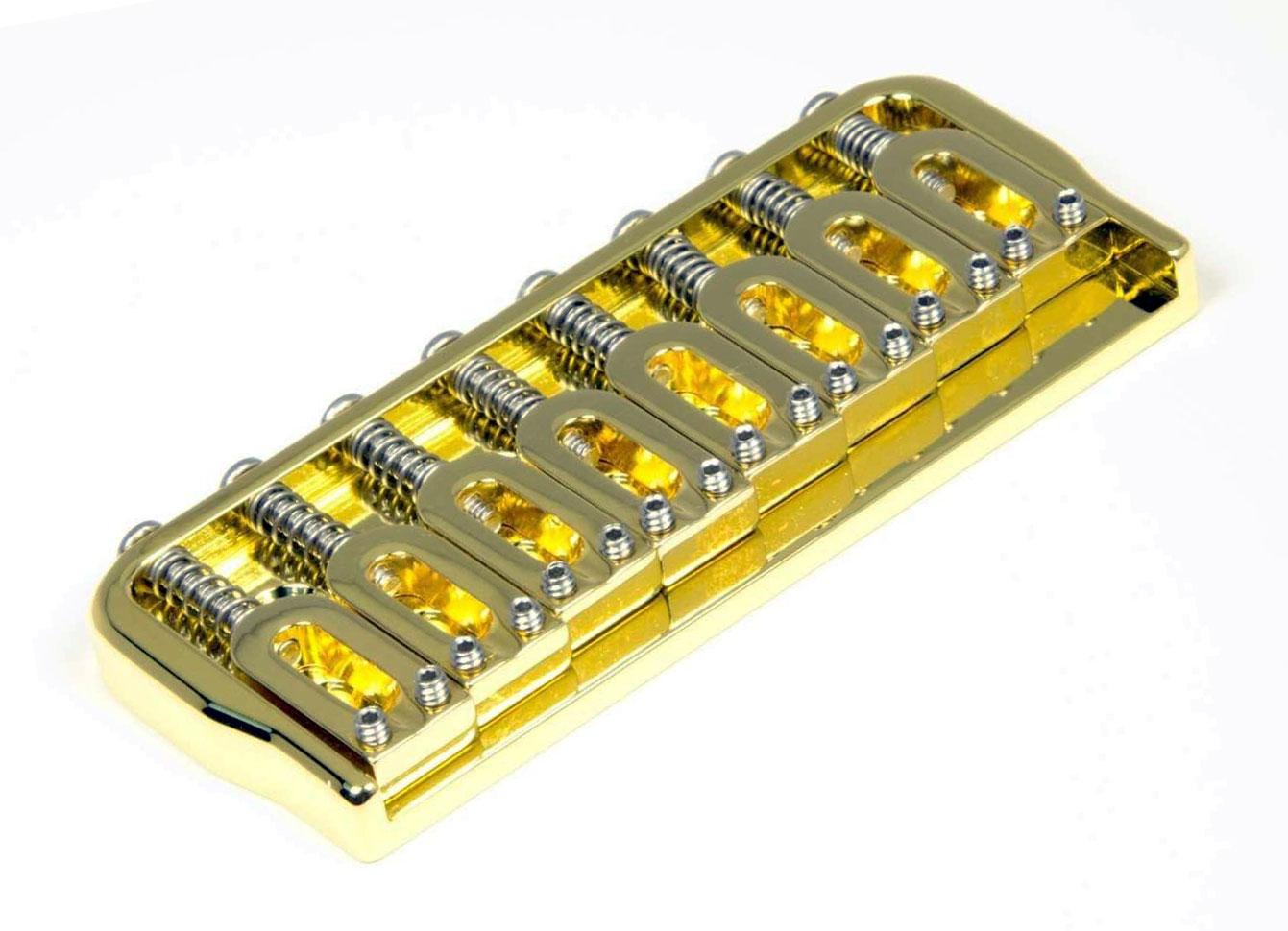 hipshot 41080g 8 string hardtail fixed electric guitar bridge 125 gold ebay. Black Bedroom Furniture Sets. Home Design Ideas
