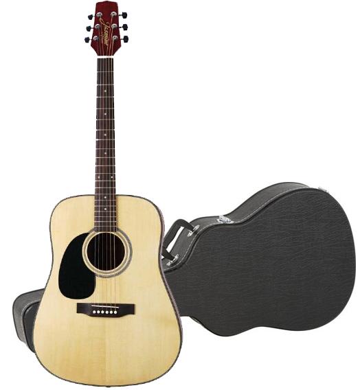 jasmine by takamine s33 left handed dreadnought acoustic guitar hardshell case ebay. Black Bedroom Furniture Sets. Home Design Ideas